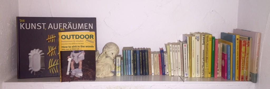 Von Loriot bis Böll, von Epikur bis Albert Schweitzer, von wichtigen *äh* Lebensratgebern bis Ultramonk-Lektüre alles da: Willkommen in meiner kleinen Bibliklothek.